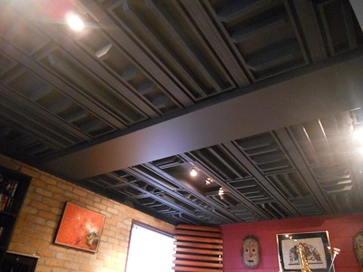 ceiling panels installed 1