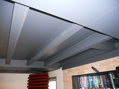 ceiling beams with rails 2