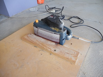 mounted belt sander