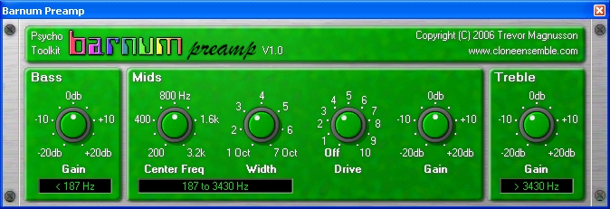 Barnum Preamp screenshot