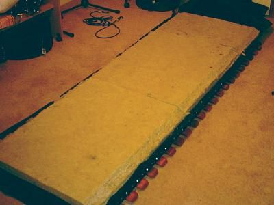 Bass traps: second layer rockwool